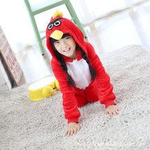 ילדי פנדה קריקטורה Kigurumi תלבושות עבור בני בנות ילדים רופפים חורף בעלי החיים סרבל תינוקות סרבל אנימה פלנל פיג 'מה הלבשת(China)
