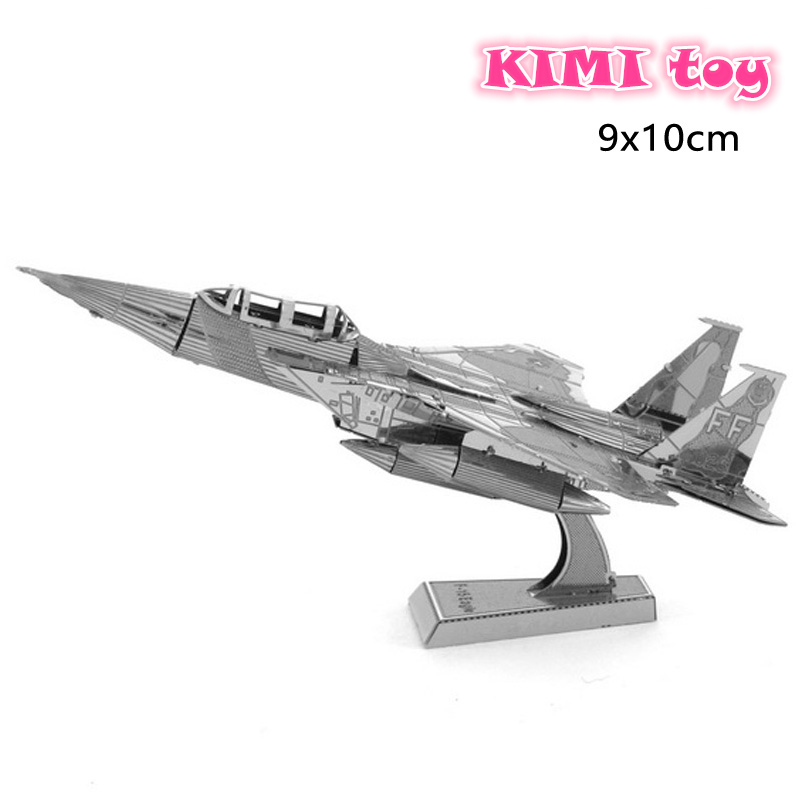 3D Metal Puzzles F15 Fighter DIY Model Toy Combat Weapons Tie Xwing Fighter Falcon Children's Toy Puzzles for Adult(China (Mainland))