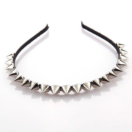 Wholesale 10PCs/Lot Silver Metal Stud Rivet Spike Headband Hair Head Band Punk Girl(China (Mainland))