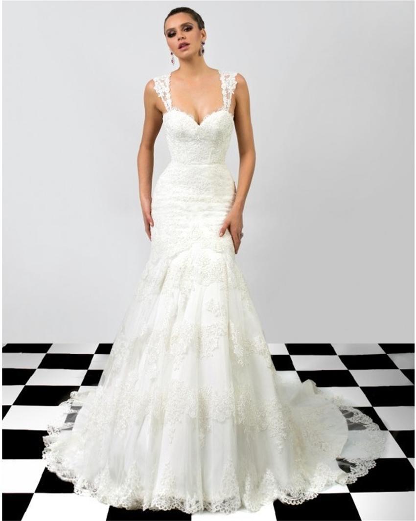 Lace Mermaid Wedding Dress Size 16 : Sweetheart backless lace mermaid wedding dress plus size bride dresses