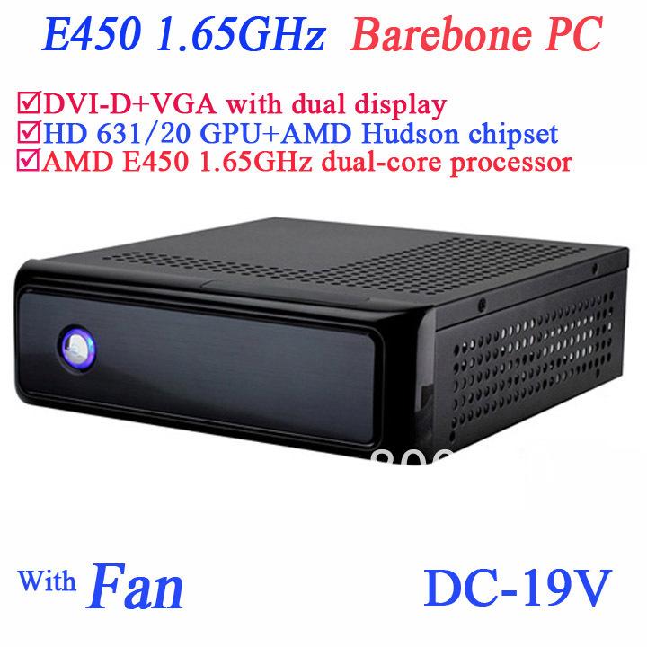 Cheap AMD E450 1.65Ghz barebone mini windows desktop computers AMD Hudson chipset AMD Radeon HD6310 GPU DVI-D VGA dual display<br><br>Aliexpress