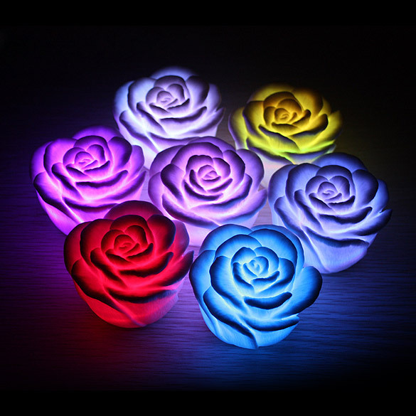 LED Romantic Rose Flower Color changed Lamp Light 99% Area Free Shipping DHL EMS UPS  K5BO(China (Mainland))