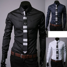 2016 New Men Shirt Long Sleeve Slim Fit Man Dress Shirts Plus Size 5XL Clothing Vestidos Camisa Social Masculina Chemise Homme