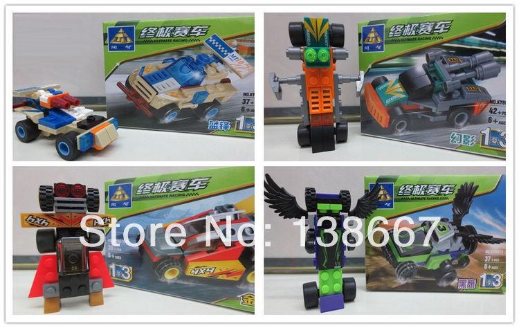 learning & education Kazi 89016 Ultimate Racing 4pcs/lot Building Block Set Bricks Boys Toys mega bloks compatible with gift(China (Mainland))
