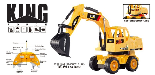 King Force 6903 Electric 1:28 Excavator  RTR RC Construction Truck RTR/Free shipping!