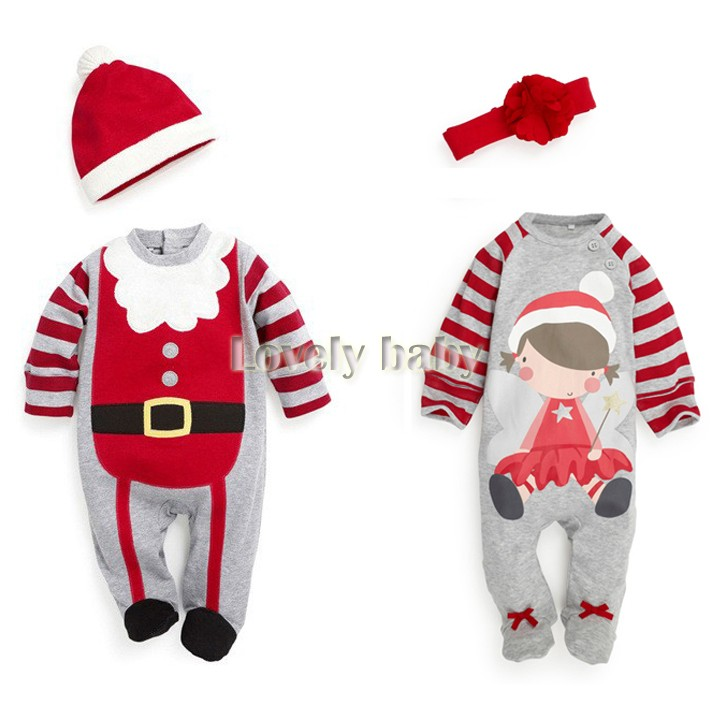 Baby Romper, boy's girl's Gentleman modelling romper infant long sleeve baby climb clothes kids christmas costume 50(China (Mainland))