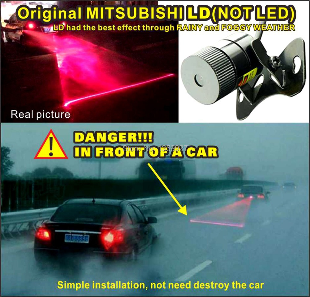 with Mitsubishi LD lamp first creative design factory car laser fog lamp FOR SAFETY WARNING SUITABLE FOR RAINY AND FOGGY WEATHER<br><br>Aliexpress