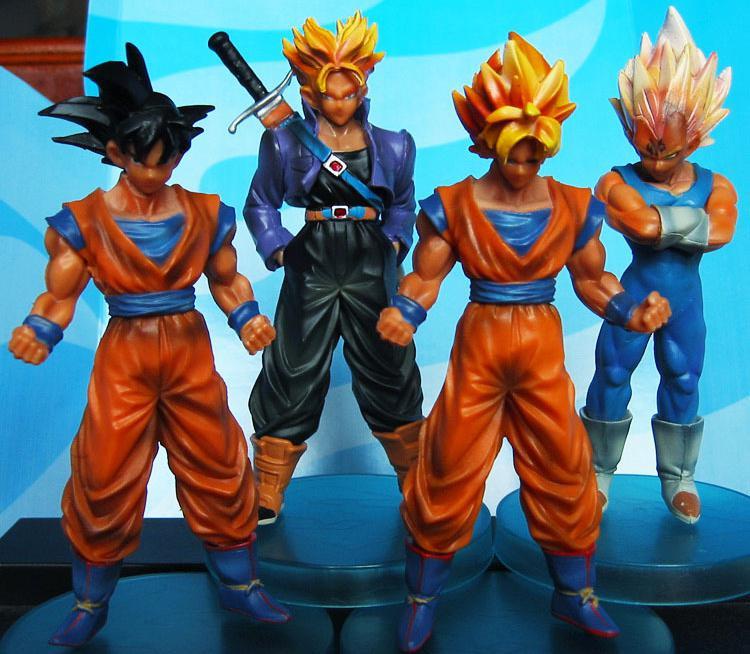 2015 Dragon Ball Action Figures Goku Pvc Figure Hot Toys 12cm 4 Pcs Dragon Action Figure Anime Toys Kid Gifts Free Shipping(China (Mainland))