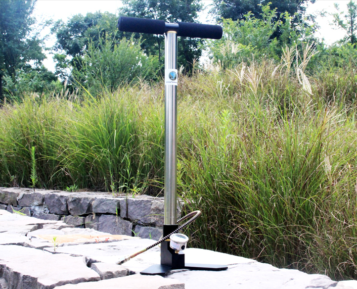 JUFENG Pre Charged 4500psi High Pressure PCP Hand Pump With Gauge & Hose(China (Mainland))