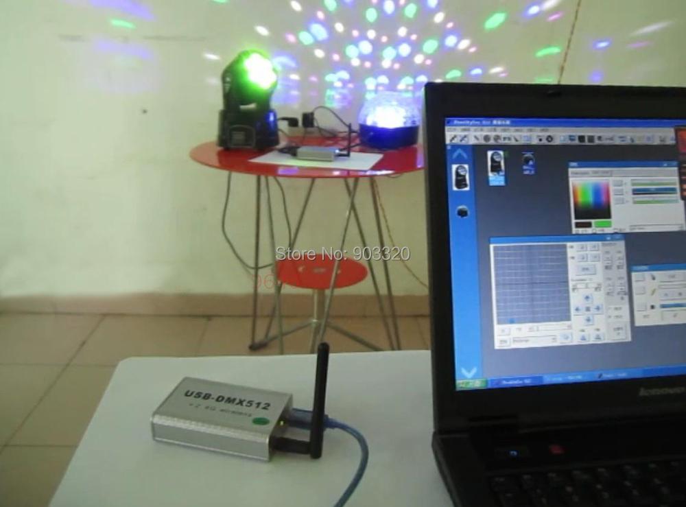 Купить Высокоскоростной беспроводной фристайлер старая USB-DMX512 контроллер программного обеспечения, 3D USB DMX512 контроллер для свет этапа, луч света