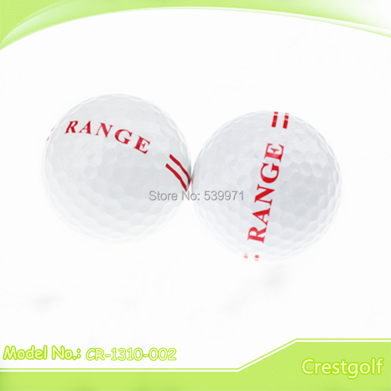 Free shipping hot selling 12pcs/set white double layer driving range practice golf ball(China (Mainland))
