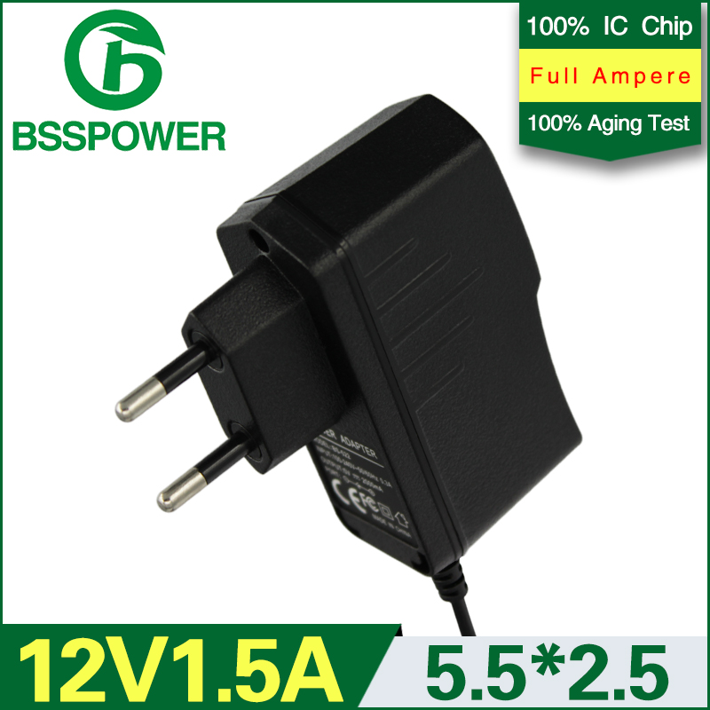 high quality universal ac 100v-240v switching power supply adapter dc 12v 1.5a 1500mA adaptor EU plug 5.5*2.5mm monitor used(China (Mainland))