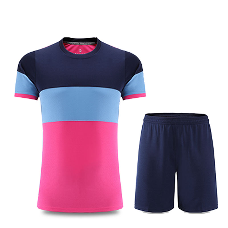 2016 new Summer training Soccer Jerseys Suit Set Men Women Children Kits 15/16 Short SleeveBlank mixed color football Jerseys(China (Mainland))
