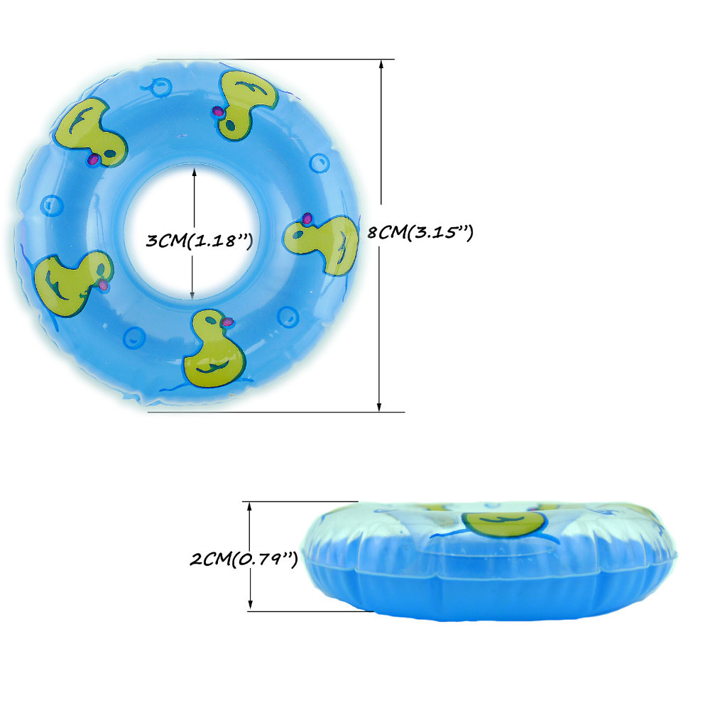 Wholesale Two Colour 10 Pcs Swimming Buoy  Lifebelt Ring For 1:6 Barbie Doll Equipment Child Toys greatest Reward Free Delivery