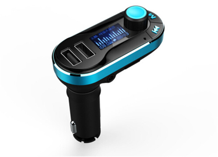 Bluetooth FM transmitter handsfree car kit LCD display car charger USB MP3 microphone for iPhone smarpthones(China (Mainland))