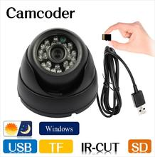Security Dome camcorder IR CCTV Camera Video Night Vision Auto Car Driving record Recorder DVR USB Tf Card 8/16 GB freeshipping
