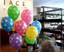 Látex globos fiesta de cumpleaños decoración de la boda de helio globos inflables juguetes baloon impresa 5 unids/lote 12 pulgadas