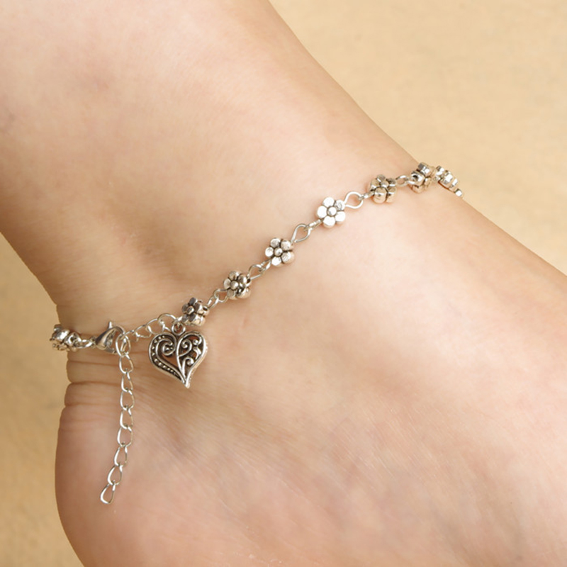 New Design Women Silver Bead Chain Anklet Ankle Bracelet Barefoot Sandal Beach Foot free shipping JL016(China (Mainland))