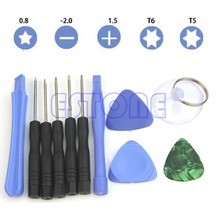 Free shipping 11 In 1 Mobile Repair Opening Tool Kit Set Pry Screwdriver For Phone Universal