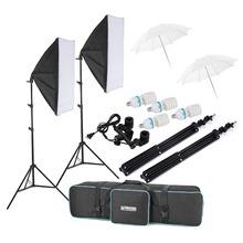 Selens 600w Bulb , 20″x28″ Softbox , 33″ Translucent Umbrellas , Photography Bag , Swivel Adapter Photo Video Studio Light Kit