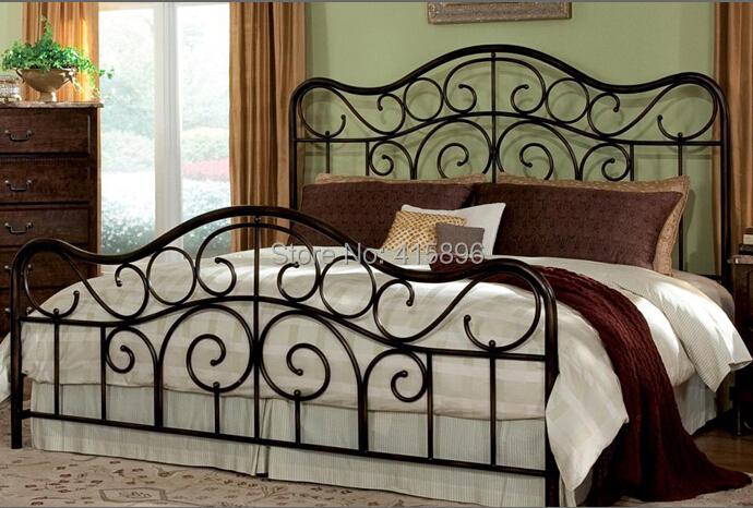 antique de vente chaud fer forg conception de cadre de lit dans lits de meubles sur aliexpress. Black Bedroom Furniture Sets. Home Design Ideas