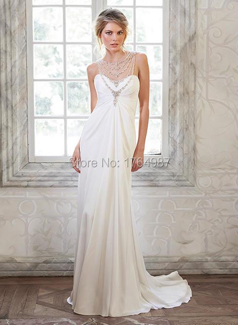 Hot Sale Sweetheart Beading Jersey Backless White Wedding Dress 2016 Robe De Mariee Princesse