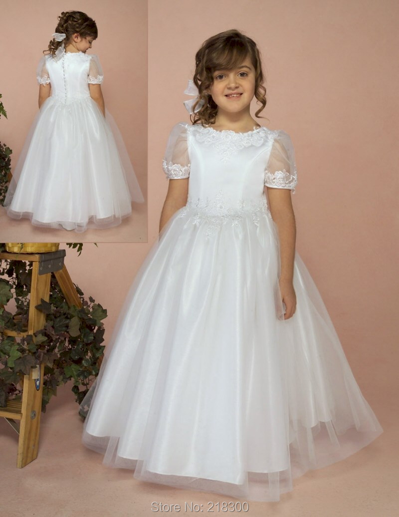 Popular Modest First Communion Dresses-Buy Cheap Modest First ...