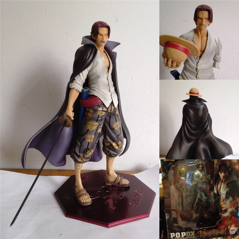 Free Shipping Japanese Anime Cartoon Two Years Later One Piece Shanks Action Figures PVC Tos Doll Model Collection for Friends(China (Mainland))