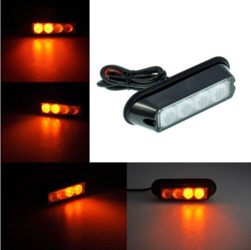 amber 4 led car vehicle emergency hazard flash strobe. Black Bedroom Furniture Sets. Home Design Ideas