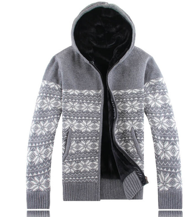 Hot sell nation Hooded men's sweater clothing new winter plus velvet warm cardigans men sweaters design high quality superb(China (Mainland))