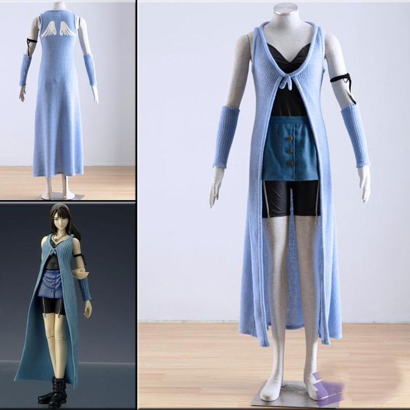 Free Shipping Final Fantasy VIII 8 Rinoa Cosplay Green Halloween Costumes