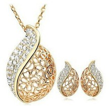 Buy JS S030 Hollow Jewelry Sets High Gold Jewelry Set Nickel Free Wedding Jewelry Sets ) for $16.00 in AliExpress store