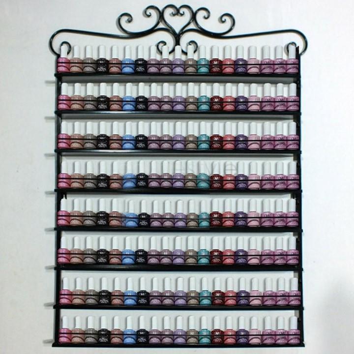 Buy 8 layers metal frame nail polish display wall rack stand - Rangement vernis ikea ...