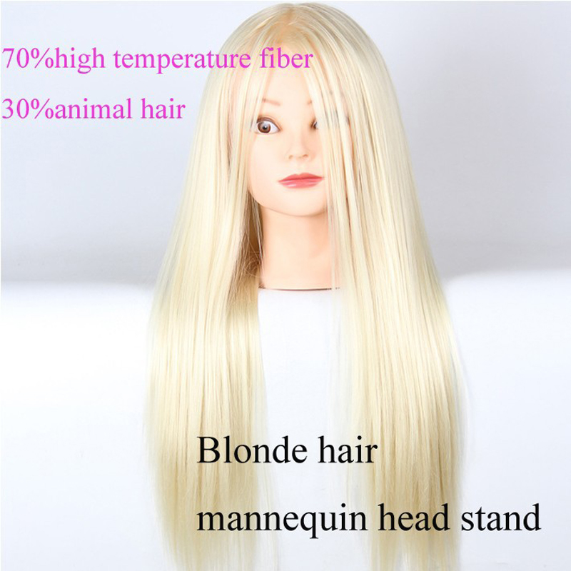Blonde Hair Styling Mannequin Head With Hair Training