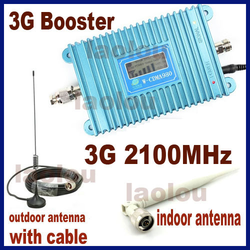 Direct Marketing Mobile Phone Signal Booster Amplifier 3G w-CDMA 2100MHz LED Display 3g Repeater with parts 1sets(China (Mainland))