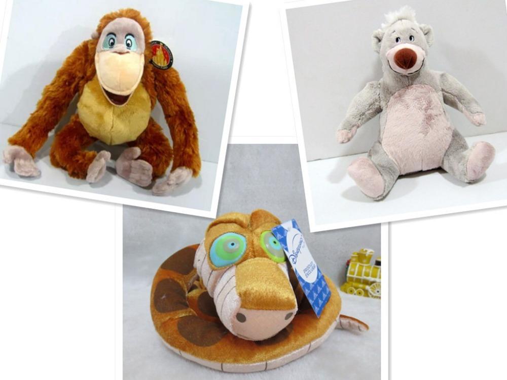Free shipping The Jungle Book big snake Kaa&Baloo bear&LeoDeLyon stuffed animal soft toys(China (Mainland))