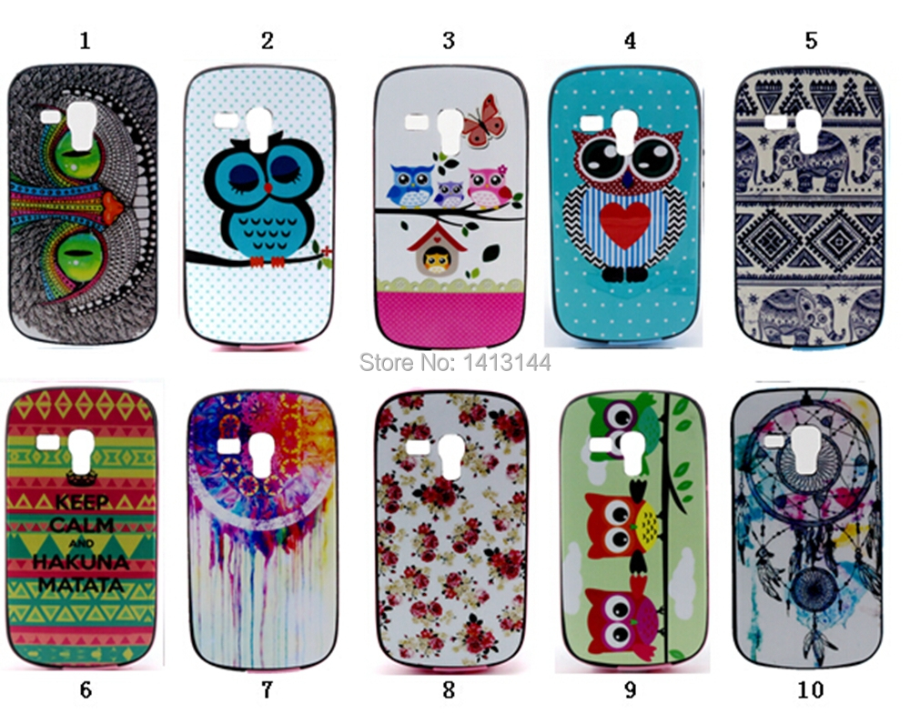 For Samsung Galaxy Trend Duos S7562 Case Newest Colorful Owl Cartoon Painting Armour PC Frame Soft TPU Phone Cases Cover S 7562(China (Mainland))