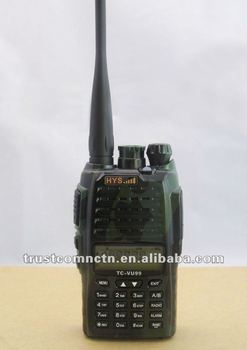 Dual band walky  talky+128 memory channel+5W/4W Output Power