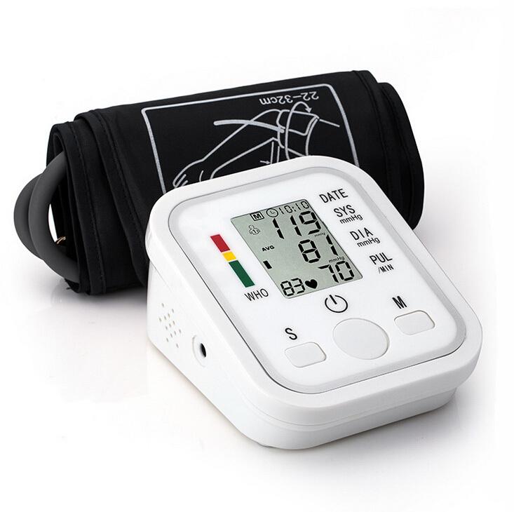 2015 Health Care 1pcs Digital Lcd Upper Arm Blood Pressure Monitor Heart Beat Meter Machine Tonometer for Measuring Automatic(China (Mainland))