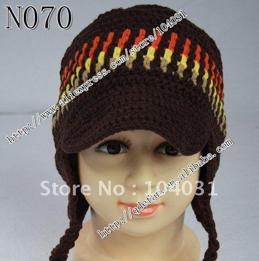 Free shipping (30pcs/lot)100% cotton crochet newsboy hats knit boys earflaps peaked caps /baby shower gift(China (Mainland))