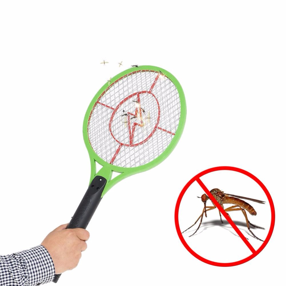 1pc Rechargeable Electric Insect Bug Bat Wasp Electric Mosquito Zapper Swatter Racket anti mosquito killer US Plug 20 inch(China (Mainland))