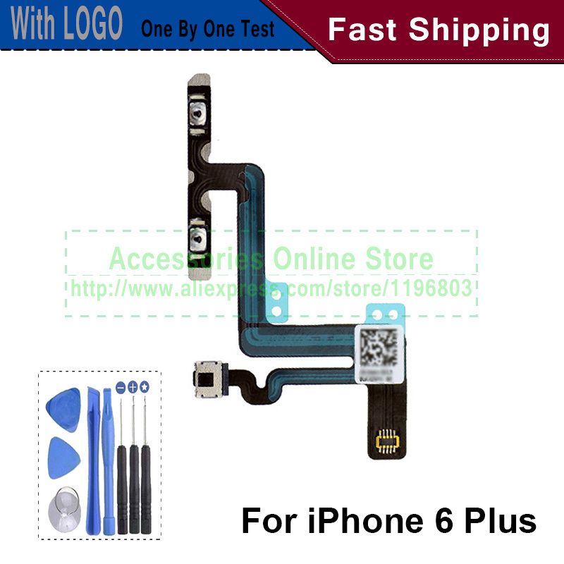 For iPhone 6 Plus 5.5 inch Volume Switch Audio Mute With Flex Cable Free tools(China (Mainland))