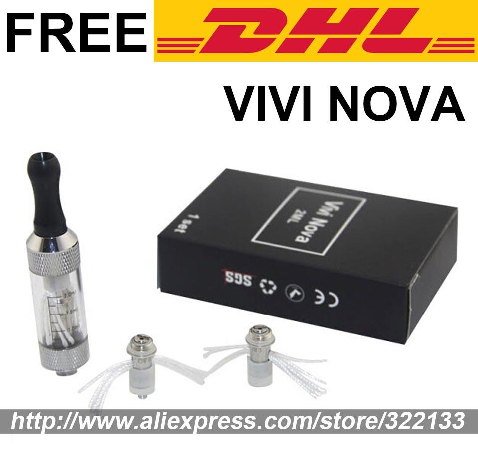 Low Price 2.5ml mini Vivi Nova Electronic Cigarette Atomizer Clearomizer e cigarettes Kit + 2 Coils Head DHL