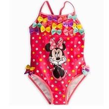 Buy original brand girls cute minnie mouse swimsuit,summer beach wear girls,one piece swimwear UF printing heart little baby for $13.79 in AliExpress store