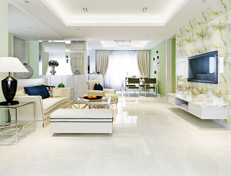 800800mm Ceramic Tile Polished Glazed Living Room Floor Tiles Stylish European Style