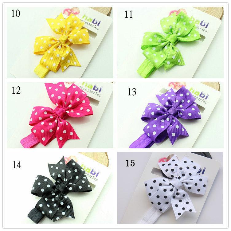MOQ 1PCs 15 Colors Cute Chiffon Bowknot Baby Headbands Sweet Infant Headband Elastic Hair Accessories Toddlers Baby Girl's Gift(China (Mainland))