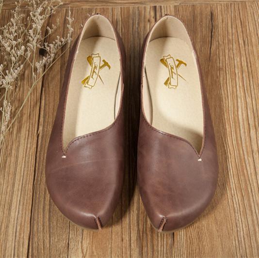 Горячая распродажа, Новый глава слой коровьей чистая обувь ручной работы, Ретро искусства ...