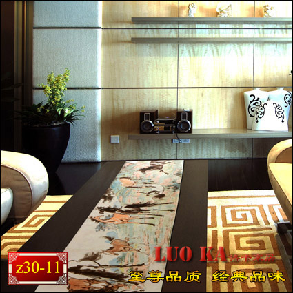 Chinese painting horse double cloth table runner placemats article Coffee Table flag flag doily bed size can be customized(China (Mainland))