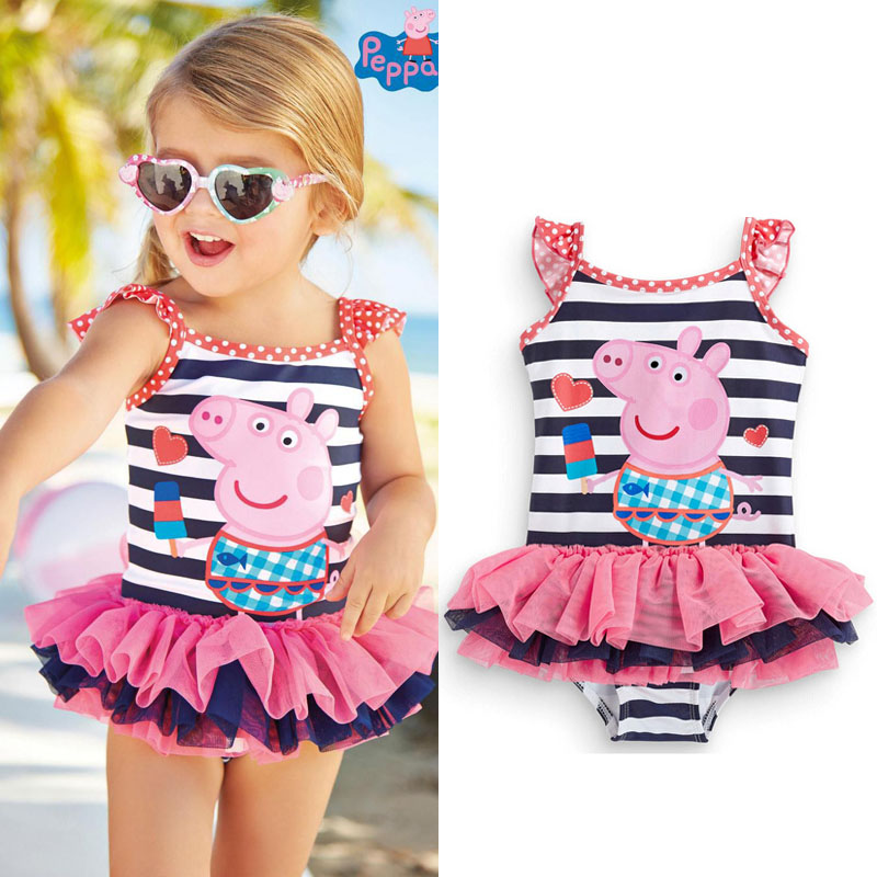 2017 New Cute baby girl swimwear one piece Kids girls swimsuit kid/children swimming Suit One Piece Swim Wear Children Swimming(China (Mainland))