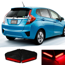for 2014-2015 New Fit/Jazz led rear bumper reflector car brake tail light with reflector 12V led stop and tail light for Honda(China (Mainland))